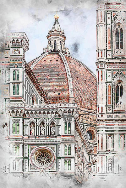Painting - Florence - 36 by Andrea Mazzocchetti
