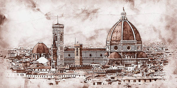 Painting - Florence - 49 by Andrea Mazzocchetti