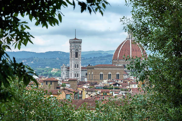 Photograph - Florence And The Cathedral From The Boboli Gardens by Fine Art Photography Prints By Eduardo Accorinti