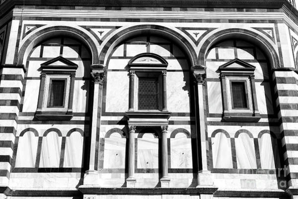 Photograph - Florence Baptistery Arches At Piazza San Giovanni Florence by John Rizzuto