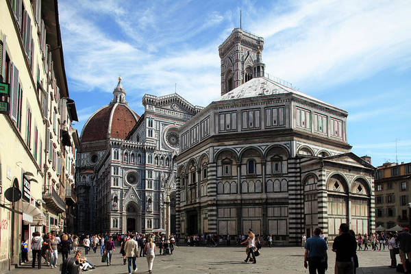 Town Square Wall Art - Photograph - Florence Baptistery by Bruce Yuanyue Bi