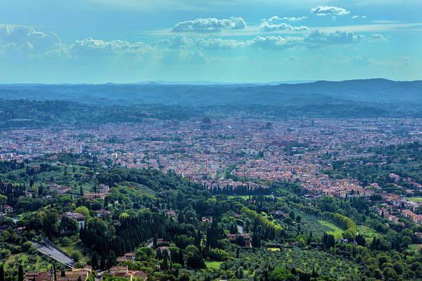 Wall Art - Photograph - Florence Below The Mountains by Iris Richardson