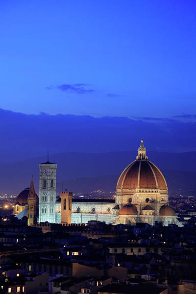 Duomo Photograph - Florence Cathedral At Dusk by Bruce Yuanyue Bi