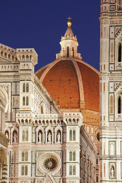 History Photograph - Florence Cathedral Detail by Enzo Figueres
