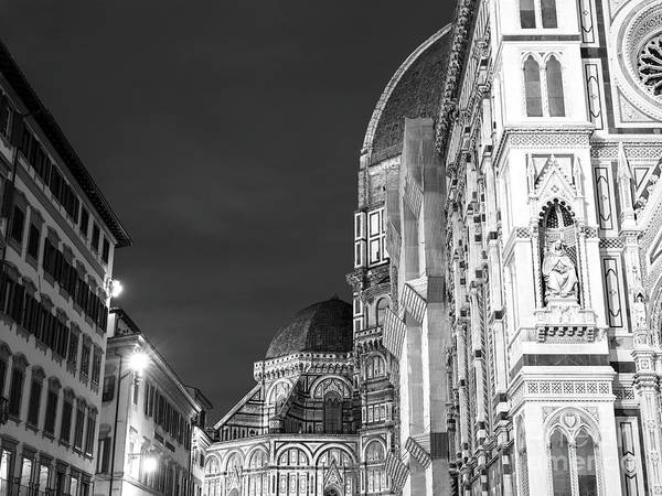 Photograph - Florence Cathedral Slice At Night by John Rizzuto