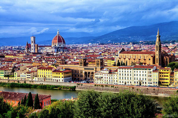 Croce Digital Art - Florence by Christopher Eng-Wong