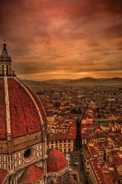 Christianity Photograph - Florence Duomo At Sunset by Mcdonald P. Mirabile