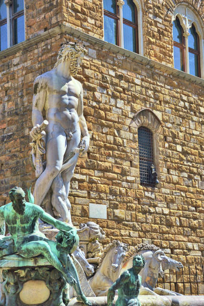 Photograph - Florence Fountain Of Neptune by JAMART Photography