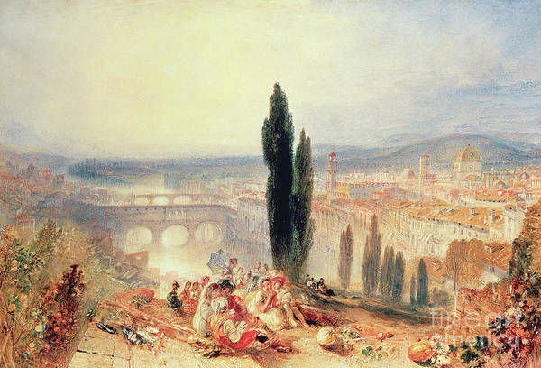 Wall Art - Painting - Florence From Near San Miniato, 1828 by Joseph Mallord William Turner