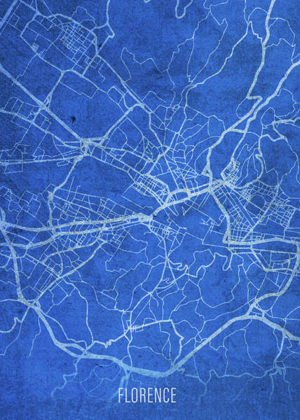 Wall Art - Mixed Media - Florence Italy City Street Map Blueprints by Design Turnpike