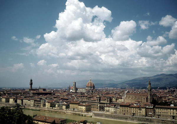 Duomo Photograph - Florence Italy by Michael Ochs Archives