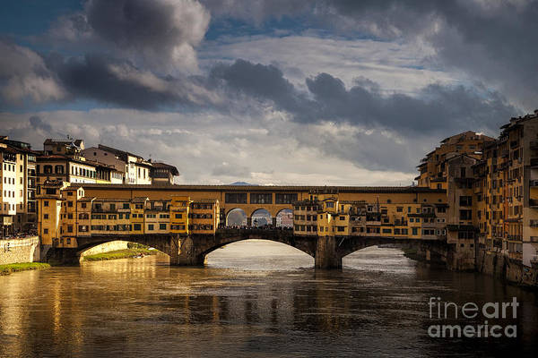 Medieval Town Photograph - Florence, Italys Iconic Ponte Vecchio by Andrew S