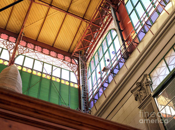 Photograph - Florence Mercato Centrale Window Colors by John Rizzuto