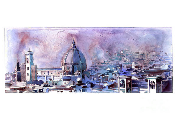Wall Art - Painting - Florence Morning by Ryan Fox