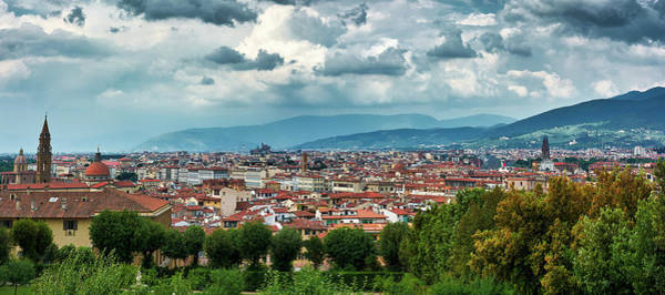 Photograph - Florentine Cityscape From The Boboli Gardens by Fine Art Photography Prints By Eduardo Accorinti