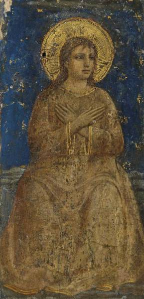 Wall Art - Painting - Florentine School, Circa 1420-30 Saint by Celestial Images