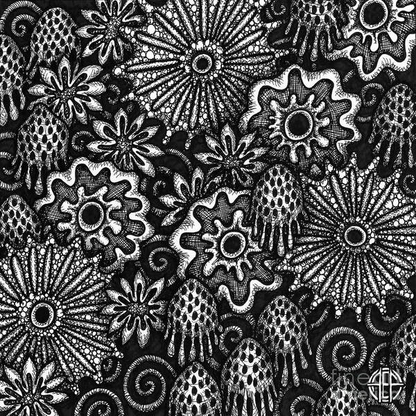 Drawing - Floriated Ink 11 by Amy E Fraser