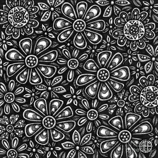 Drawing - Floriated Ink 3 by Amy E Fraser