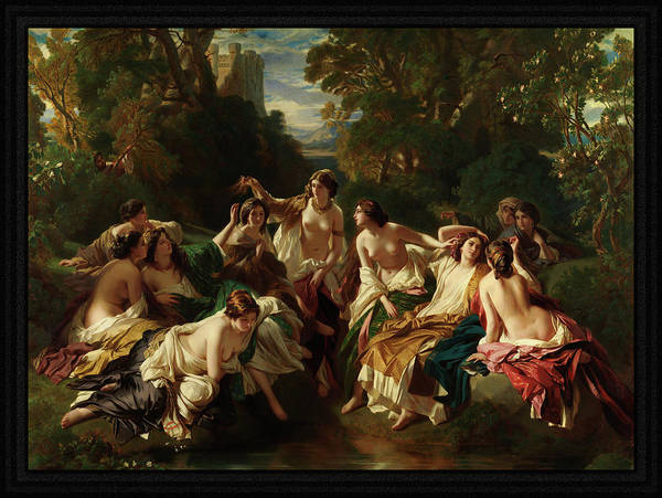 Painting - Florida By Franz Xaver Winterhalter                         by Xzendor7
