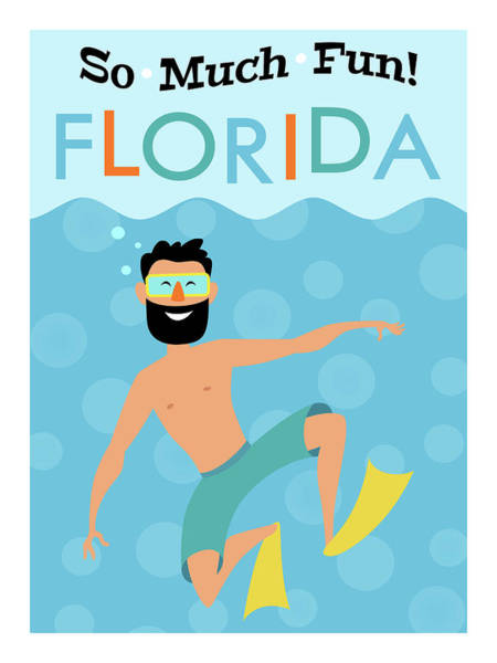 Wall Art - Digital Art - Florida Fun Hipster Travel by Flo Karp