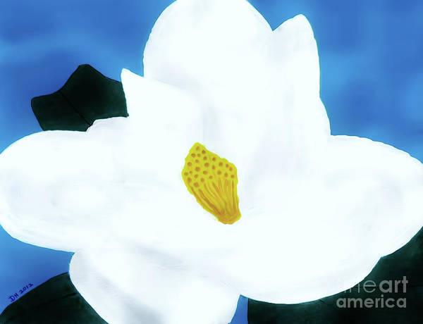 Painting - Florida - Magnolia - Blossom by D Hackett