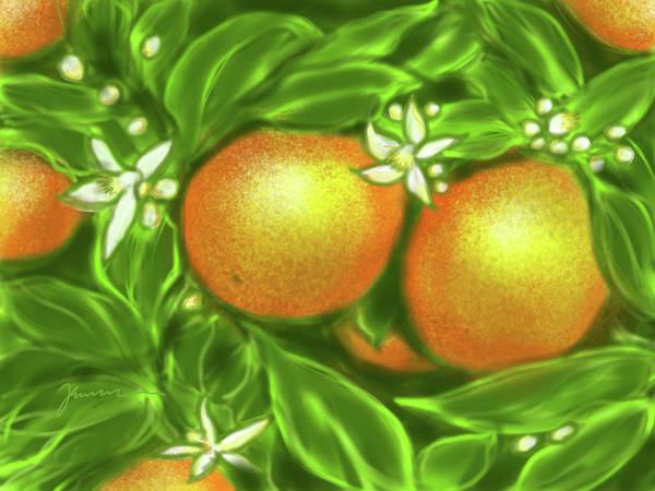 Painting - Florida Oranges by Jean Pacheco Ravinski