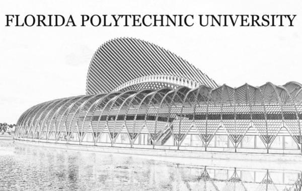 Wall Art - Digital Art - Florida Polythechnic University Poster A by David Lee Thompson