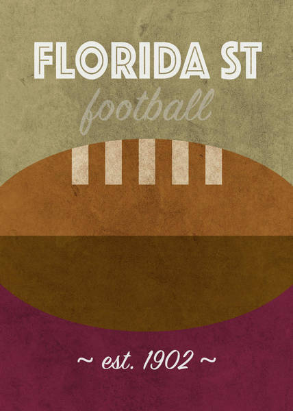 Wall Art - Mixed Media - Florida State College Football Team Vintage Retro Poster by Design Turnpike