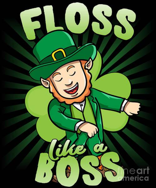 Digital Art - Floss Like A Boss St Patricks Day Leprechaun by Flippin Sweet Gear