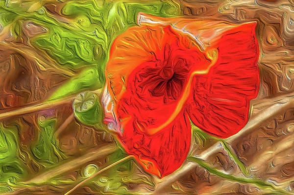 Wall Art - Digital Art - Flower Abstract Impression #01 by Dimitris Sivyllis