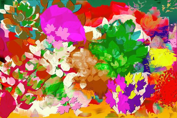 Digital Art - Flower Abstract Series 181001 by Carlos Diaz