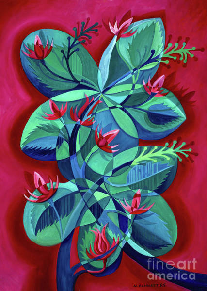 Wall Art - Painting - Flower Art Untitled by Manuel Bennett