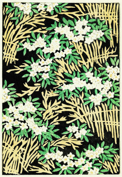 Flower Bed Wall Art - Painting - Flower Bed - Japanese Traditional Pattern Design by Watanabe Seitei