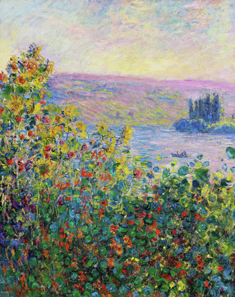 Vetheuil Wall Art - Painting - Flower Beds At Vetheuil - Digital Remastered Edition by Claude Monet