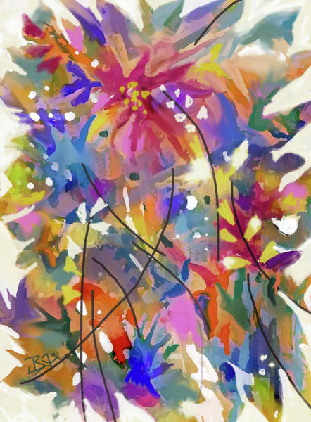 Digital Art - Flower Bouquet 2 by Jean Batzell Fitzgerald