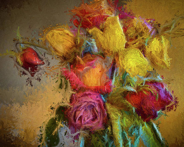 Wall Art - Painting - Flower Bouquet 6 by Mike Penney