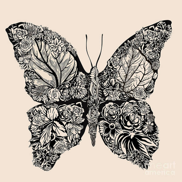Wall Art - Digital Art - Flower Butterfly by Ryger