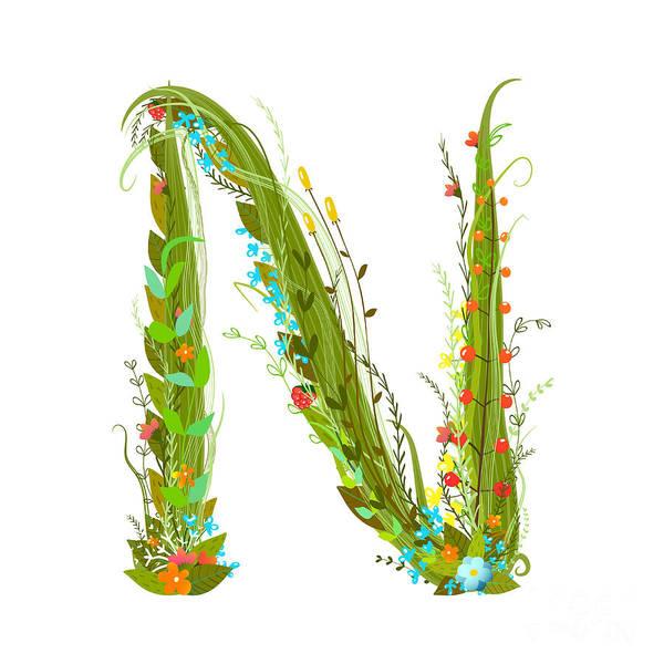 Write Wall Art - Digital Art - Flower Calligraphy Floral Elegant by Popmarleo