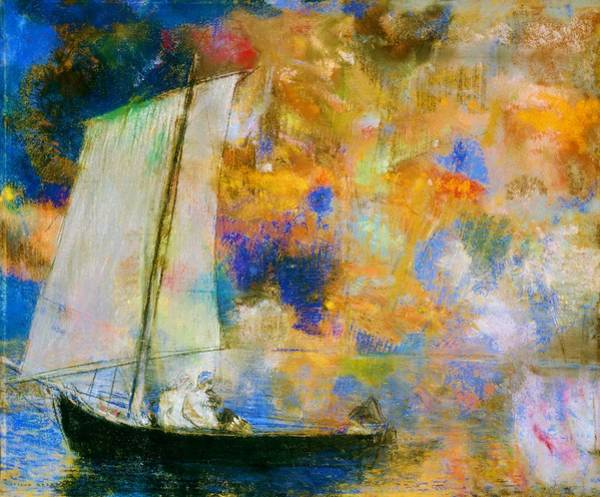 Wall Art - Painting - Flower Clouds - Digital Remastered Edition by Odilon Redon