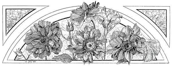 Wall Art - Drawing - Flower Designs, 1893 by English School