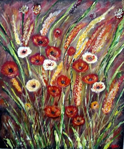 Wall Art - Painting - Flower Explosion by Beth Wilson