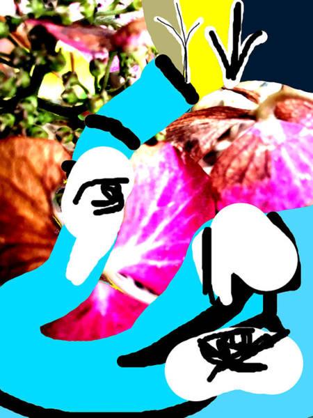 Mixed Media - Flower Face by Artist Dot