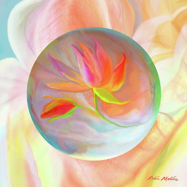 Digital Art - Flower Floater by Robin Moline