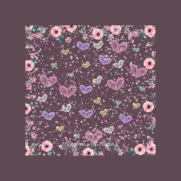 Digital Art - Flower Garden 3 by Moylom Art Studio