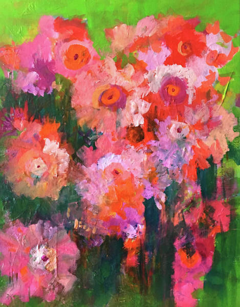 Wall Art - Painting - Flower Garden by Nancy Merkle
