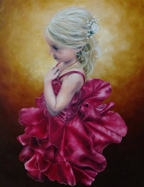 Painting - Flower Girl - Painting by Ashley Koebrick Schmidt