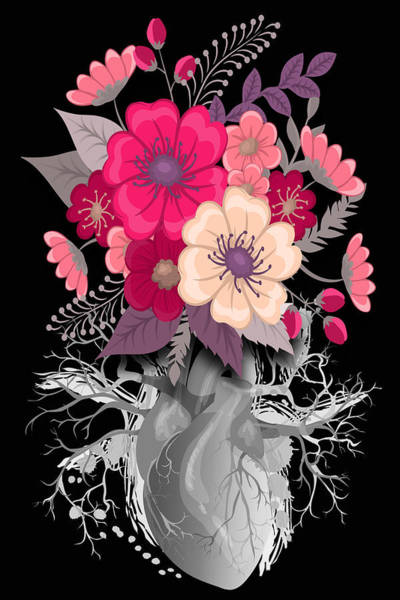 Painting - Flower Heart Spring 2 by Tony Rubino