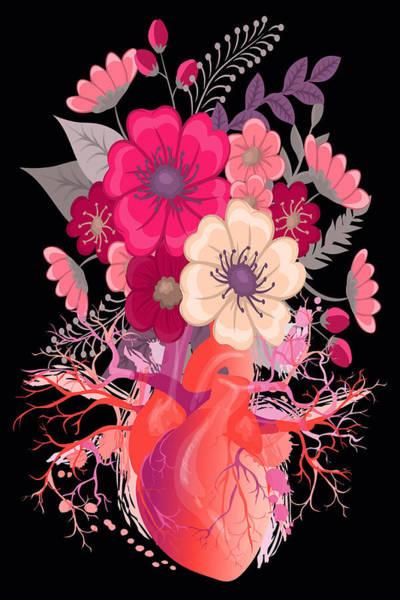 Painting - Flower Heart Spring by Tony Rubino