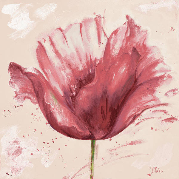 Wall Art - Painting - Flower In Pink by Patricia Pinto