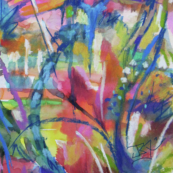 Mixed Media - Flower Intensive - Detail by Jean Batzell Fitzgerald